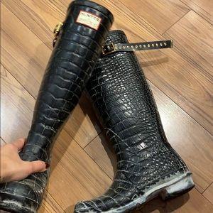Hunter x Jimmy Choo rain boots